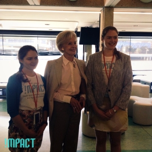 Cara, Quentin Bryce, and Lucille